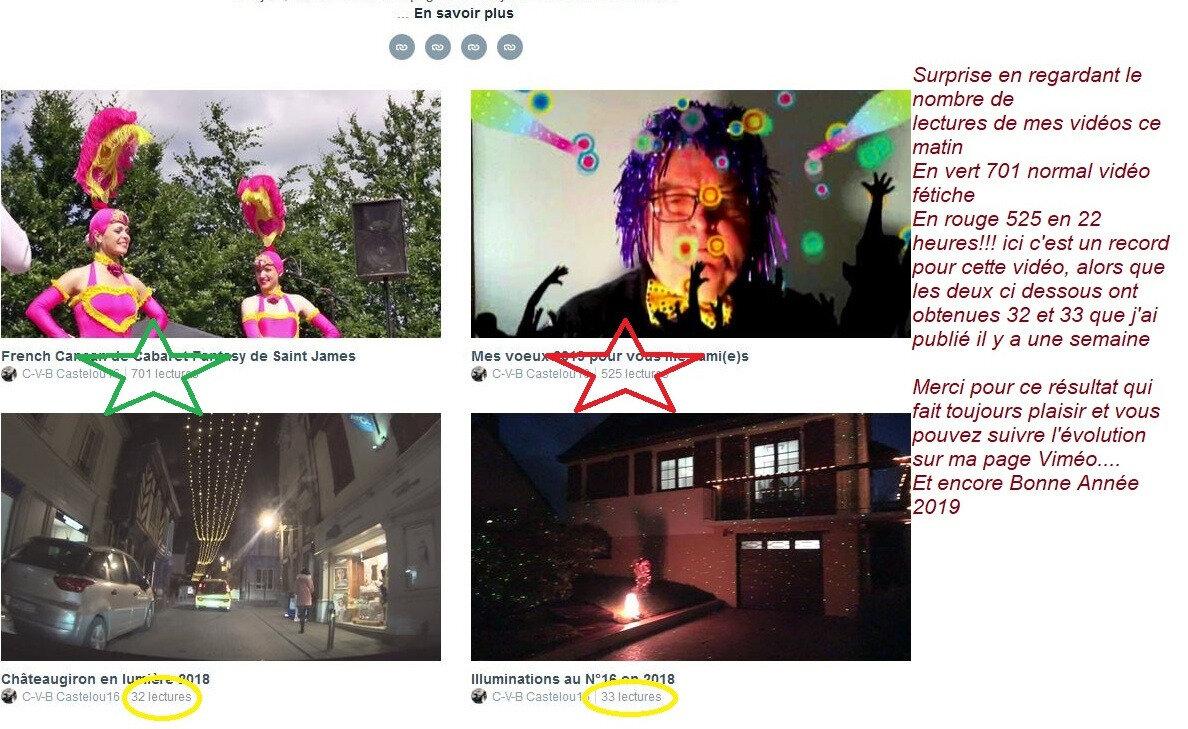 Ma vidéo des voeux 2019 fait le buz sur Viméo! le 01 01 2019
