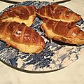Croissant fourre bechamel gruyere thermomix