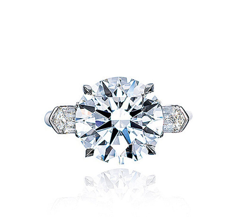A 6.01 carat, d color, internally flawless, diamond ring, by Tiffany & Co