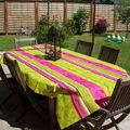 Une terrasse tout en couleurs