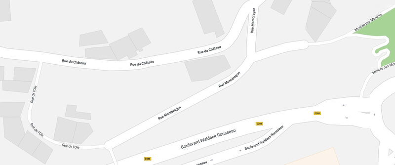rue de l'Oie, plan Google maps, oct 2017