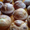 Muffins à la vanille et coeur nutella