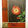 Peinture hibiscus et autre