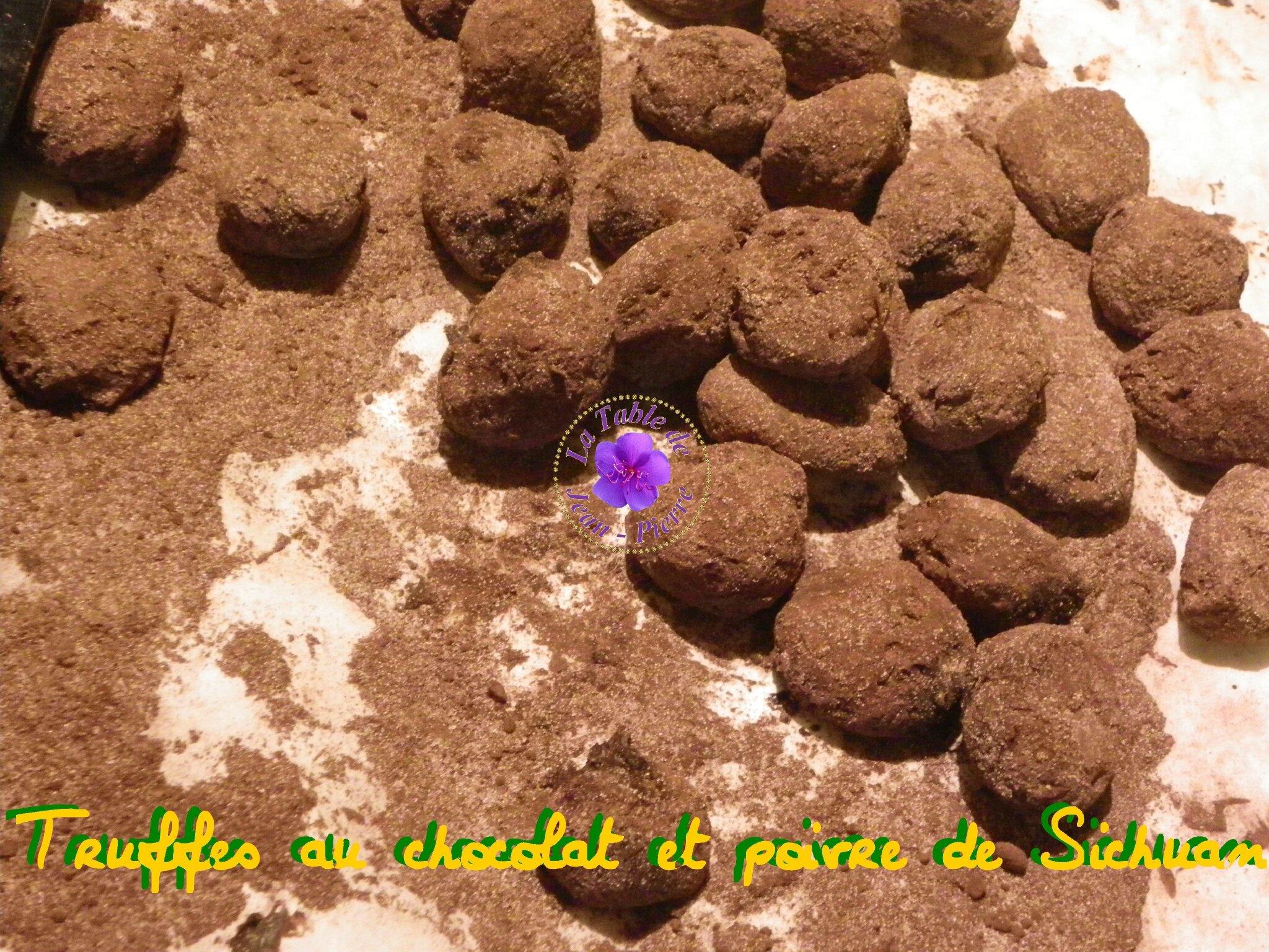 Truffes au chocolat et poivre de Sichuan