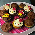 Cupcake tout choco deco hello kitty