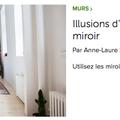 article AL Sizun pour HOUZZ: effet miroir
