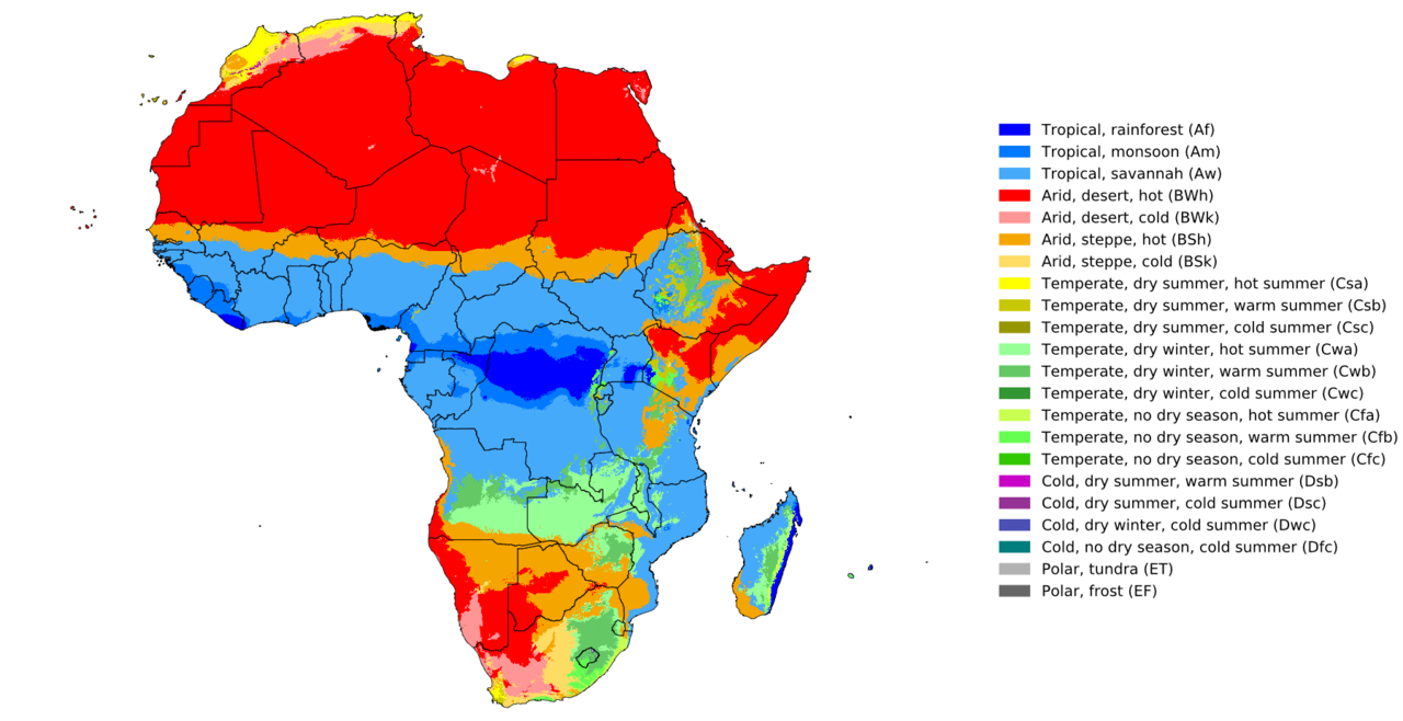 afrique-climate map -Africa