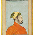 A bust portrait of a nobleman, mughal india, 17th century