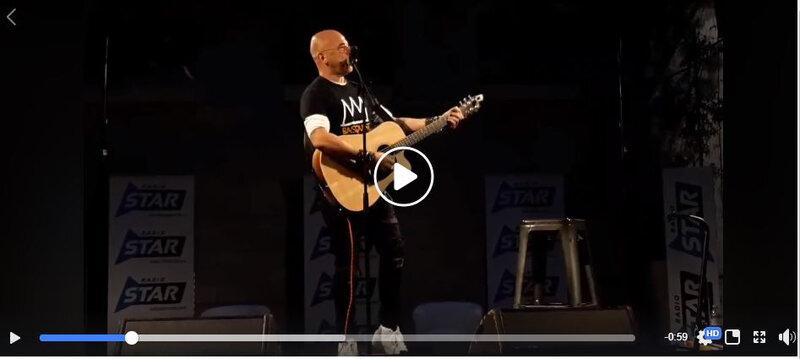 Pascal Obispo en showcase privé pour Radiostar à Marseille