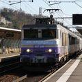 BB 7286 'en voyage' + TER, gare de Cenon