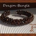 Dragon bangle perles magatama