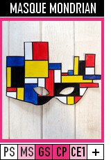 V348-MASQUES-Masque Mondrian