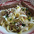 Salade de février aux endives