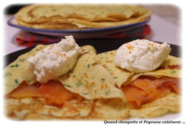 crêpes aux herbes, saumon fumé et crème citronnée-8217