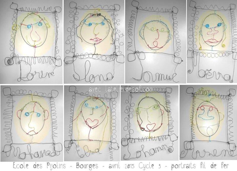 portraits fil recuit