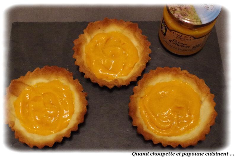 tartelettes à la crème d'abricot et à l'ananas frais-9023