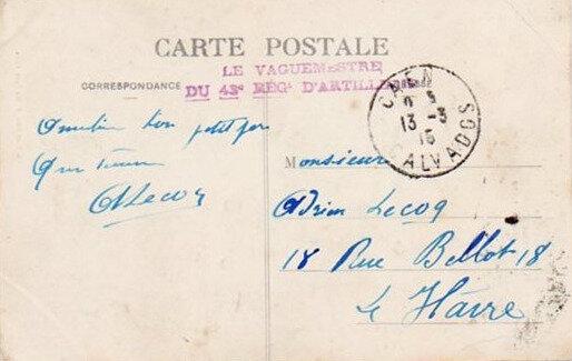 Correspondance, Caen 13