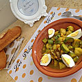 Tajine courgette patate douce