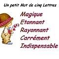 Un petit mot de cinq lettres par bongopinot