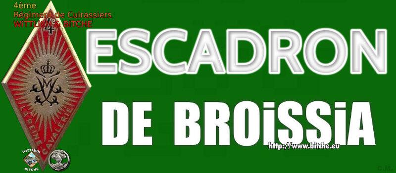 - PANNEAU d' ESCADRON CAPiTAiNE DE BROISSIA