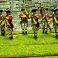 Infanterie de ligne anglaise pour la guerre d indépendance américaine
