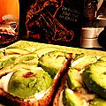 Hellish slices. (tartine yaourt à l'ail-avocat)