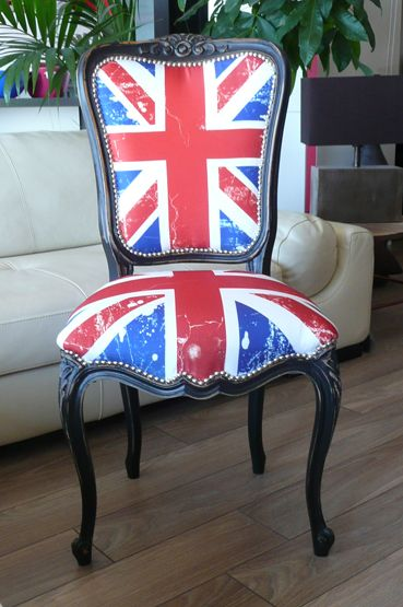 Chaise terminée Union Jack 01