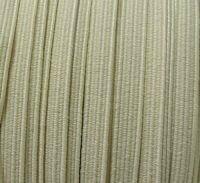 Elastique plat 6 mm ivoire