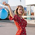 Look look look # lovely red dress and balloon