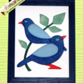 Duo d'Oiseaux bleus