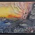 Eruption - 2010- 40 X 50cm - cadre noir (n°171)