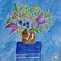 Fleurs à l'aquarelle : du vase à la botanique