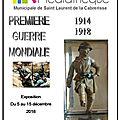 Exposition première guerre mondiale : 1914-1918