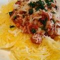 ...courge spaghetti à la bolognaise... (cathytutu)