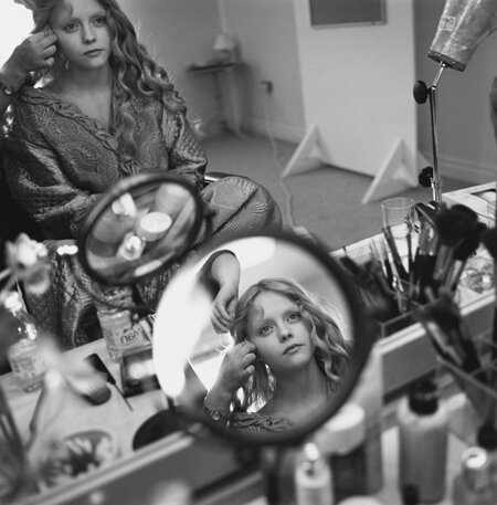 Christina Ricci in her Dressing Room Sleepy Hollow Shepperton Studios Surrey England 1999