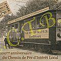 Carte postale 36ème salon toutes collections 2013 centenaire du chemin de fer d'intérêt local (tramway départemental)