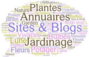 Nuage de tags sites et blogs jardiniers