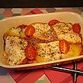 Gratiné de gnocchi du pizzaïolo (au micro-ondes) : tomates cerises, jambon, scamorza