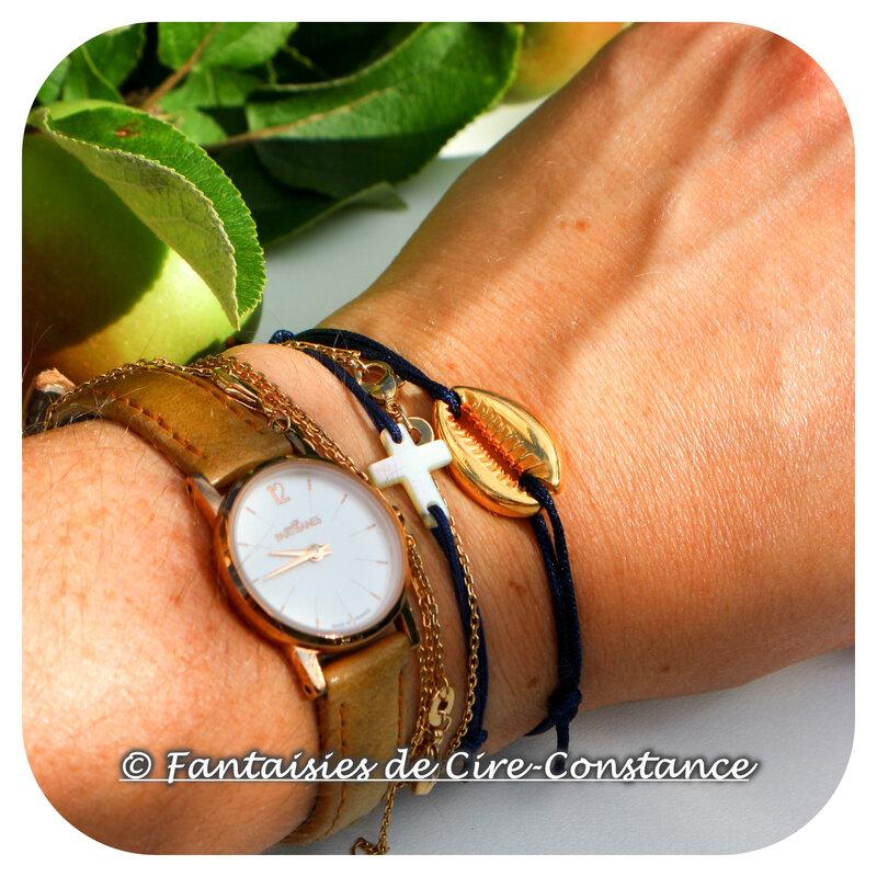 Bracelet coquillage doré-3