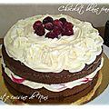 Layer cake chocolat blanc-framboise