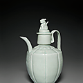 A Qingbai ewer and cover, Northern Song dynasty, 1