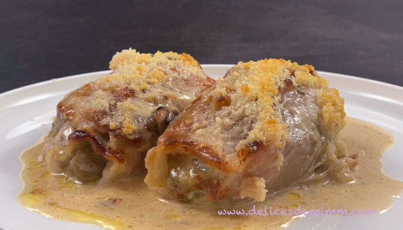 Gratin de chicons (endives) au jambon cru et au parmesan 3