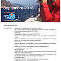 Agenda de la mer : septembre 2018 - agenda of the sea : september 2018 -