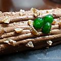 La bûche à la crème de marron cacahuétes et sa chantilly chocolat