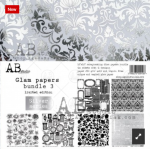 glam papers bundle 3 silver series