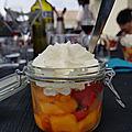 Verrine fraise et mangue fraiche