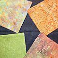 Des tissus pour un sac en patchwork