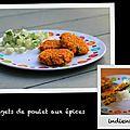 Nuggets de poulet aux épices indiennes