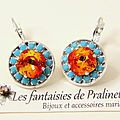 bijoux-mariage-soiree-temoin-cortege-vintage-retro-boucles-d-oreilles-Aline-strass-et-cristal-orange-fire-turquoise