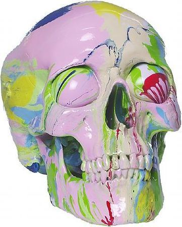 Damien Hirst, Transcendent Head. Household gloss on plastic skull and ping pong balls, Unique within a series of 50, h: 21 x w: 14 x d: 14 cm. Other Criteria